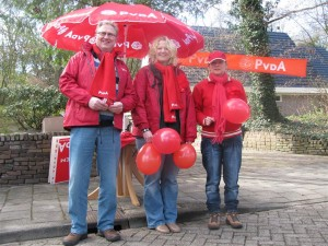 PvdA Staphorst actief op de IJhorstermarkt